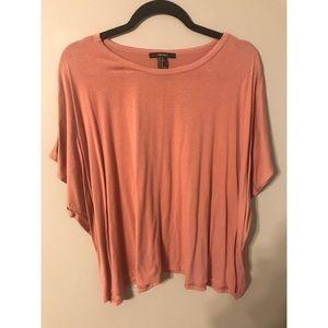 Forever 21 peach colored boyfriend cotton T-shirt